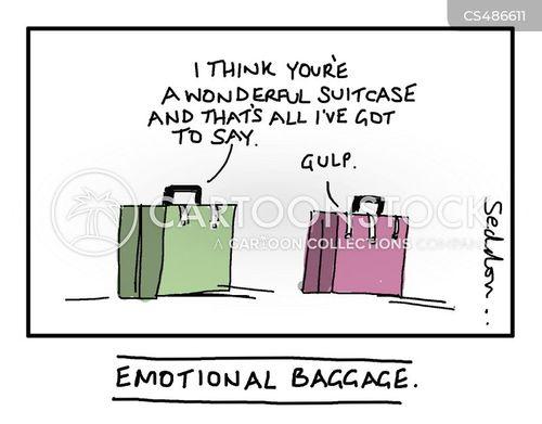 emotional baggages cartoon