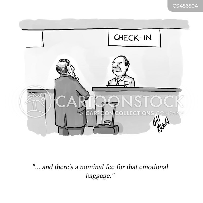 luggage allowances cartoon