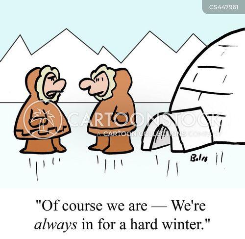 arctic winter cartoon