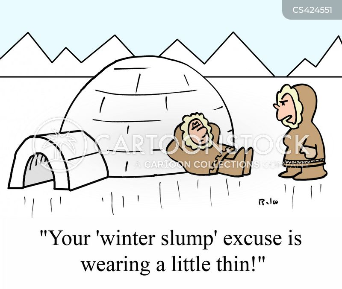 winter depression cartoon