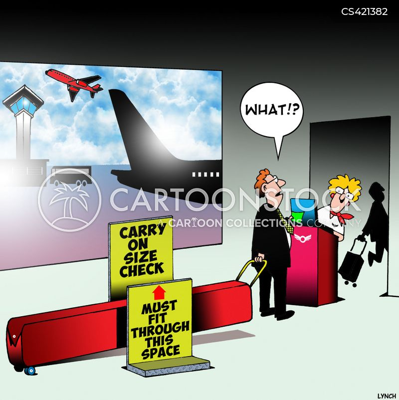 baggage sizes cartoon