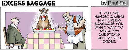 foreign cuisine cartoon