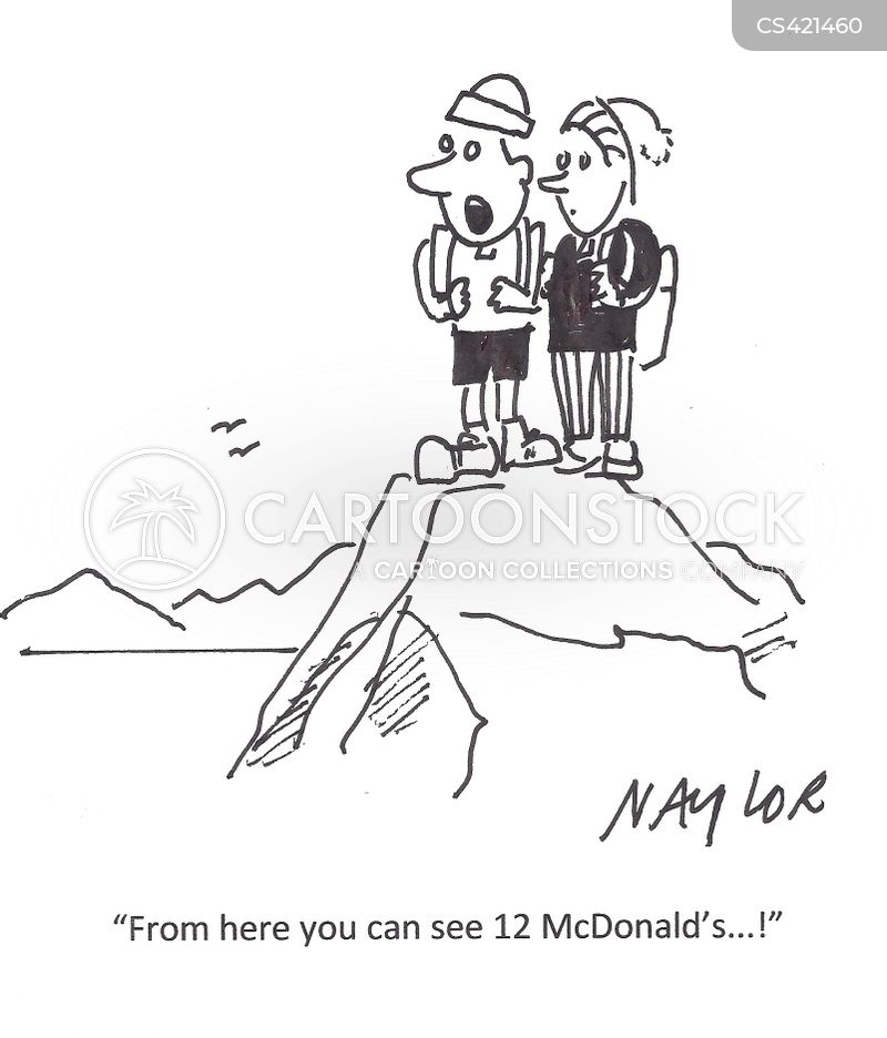 fast-food restaurant cartoon