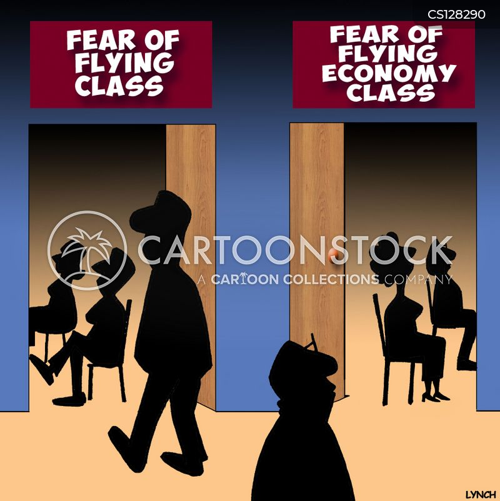flying phobias cartoon