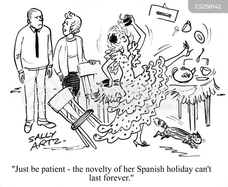 flamenco dancer cartoon