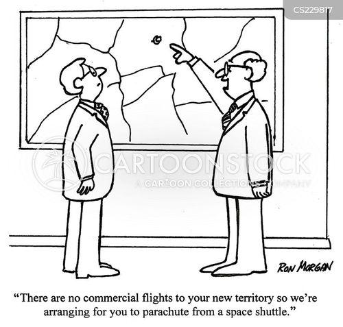 commercial flights cartoon