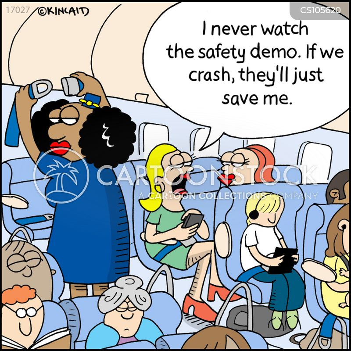 cabin crew cartoon