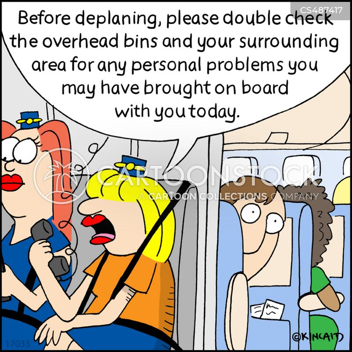 emotional luggage cartoon