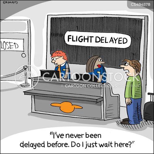delayed flights cartoon
