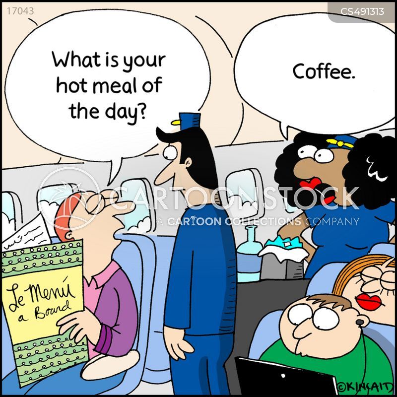 hot meal cartoon