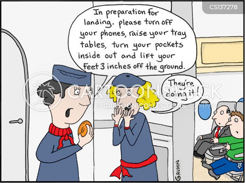 air stewardess cartoon