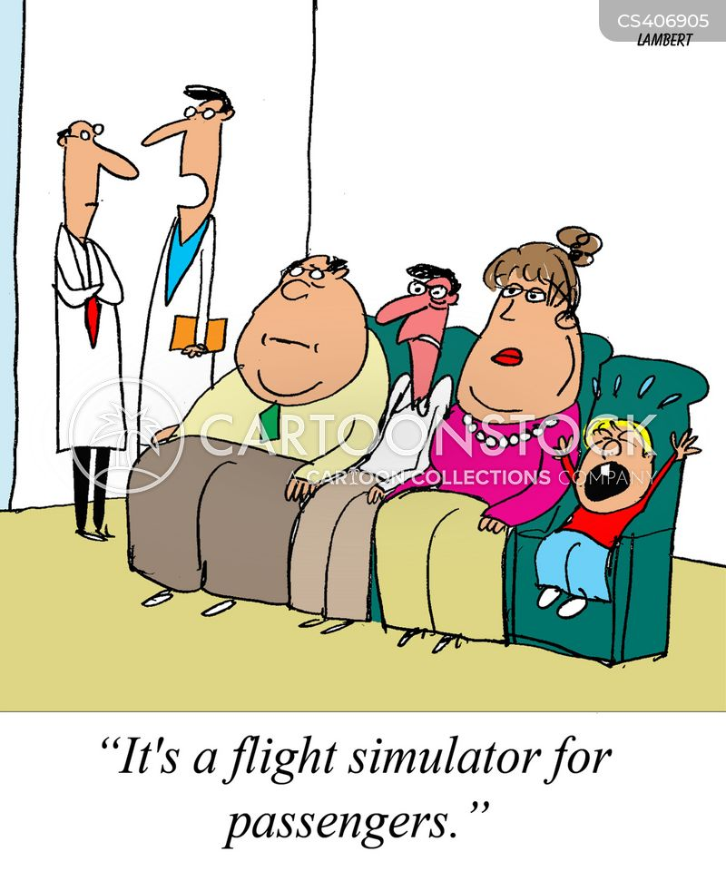flight simulator cartoon