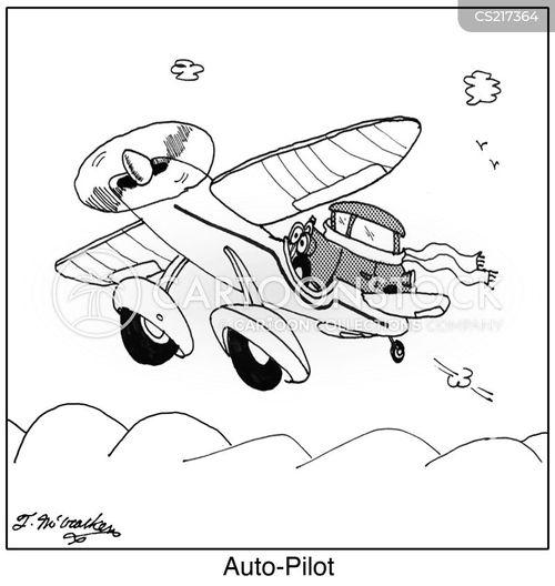 auto pilot cartoon