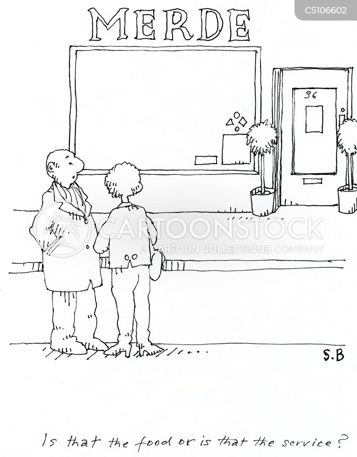 bad restaurant cartoon