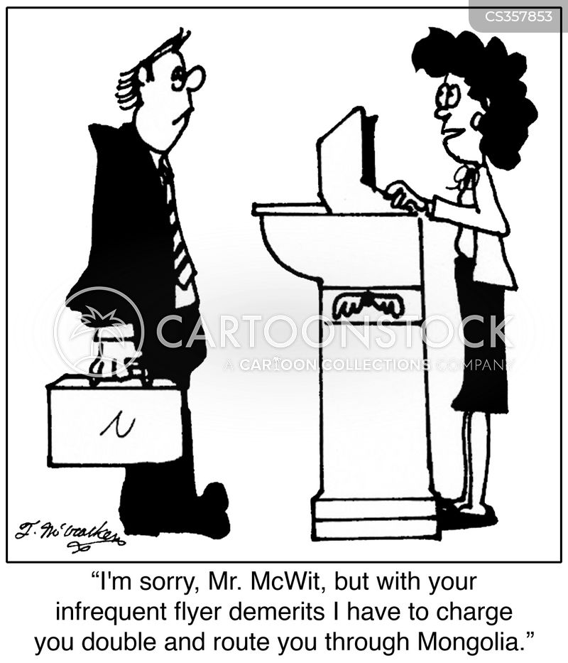frequent flyer points cartoon
