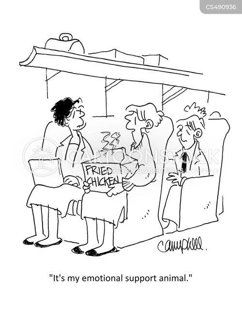 therapy animal cartoon
