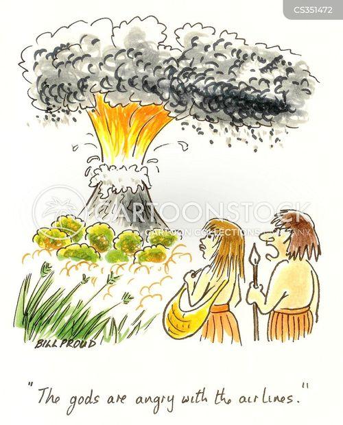 erupted cartoon