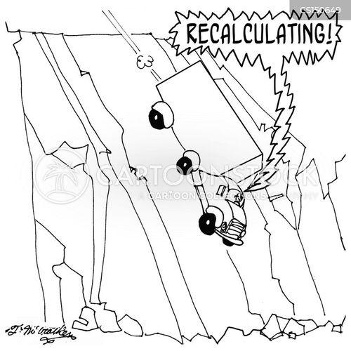 global positioning system cartoon