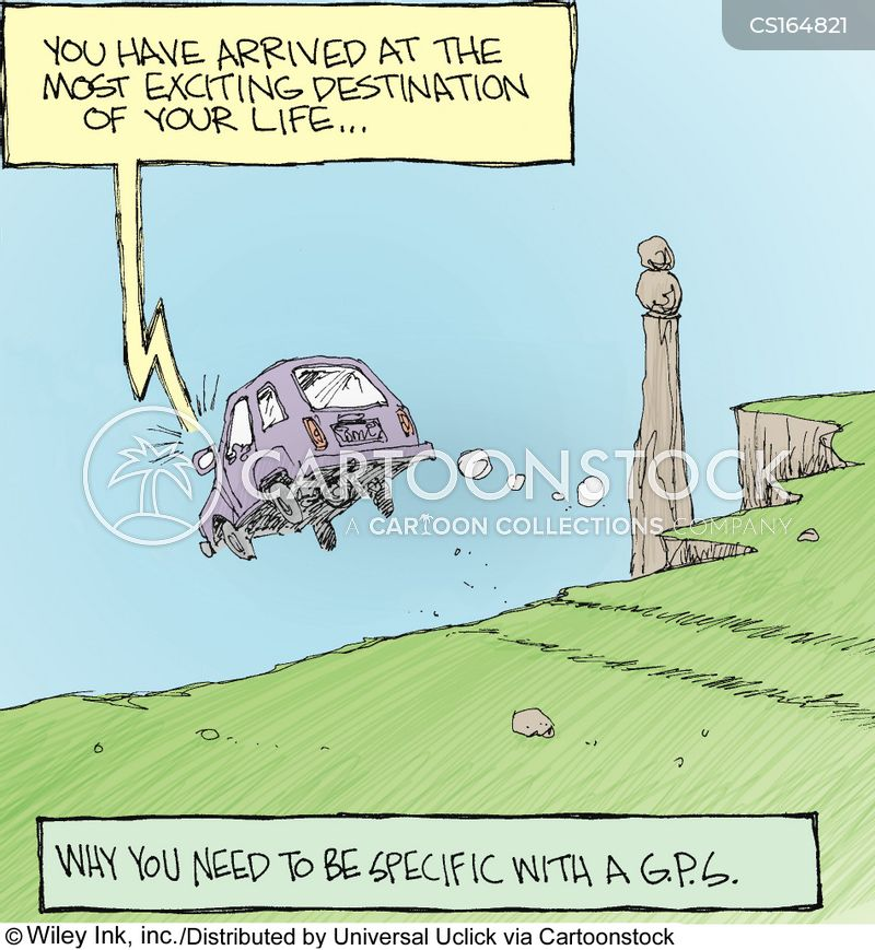 global positioning systems cartoon