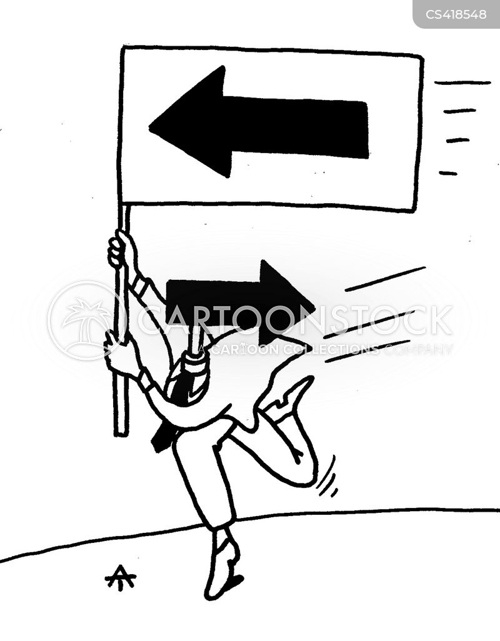 misdirection cartoon