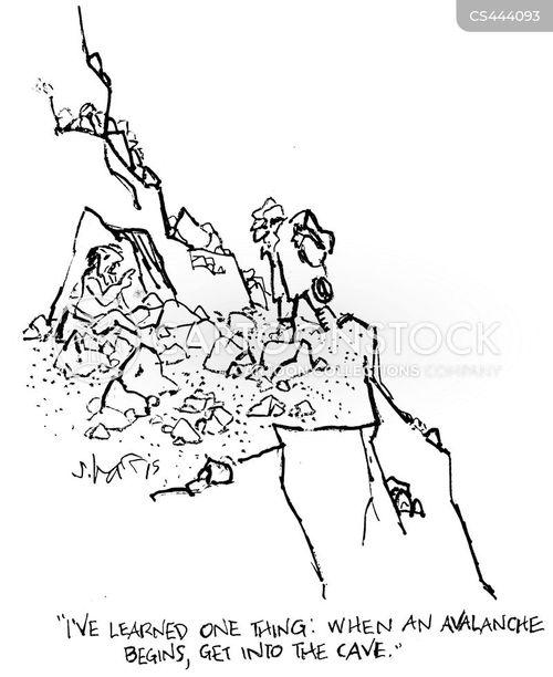 avalanche cartoon
