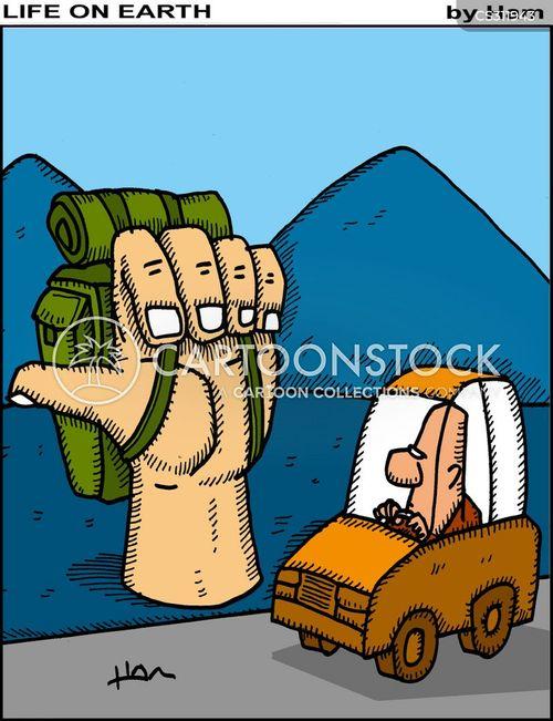 thumb a lift cartoon