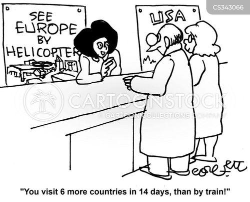 european tour cartoon