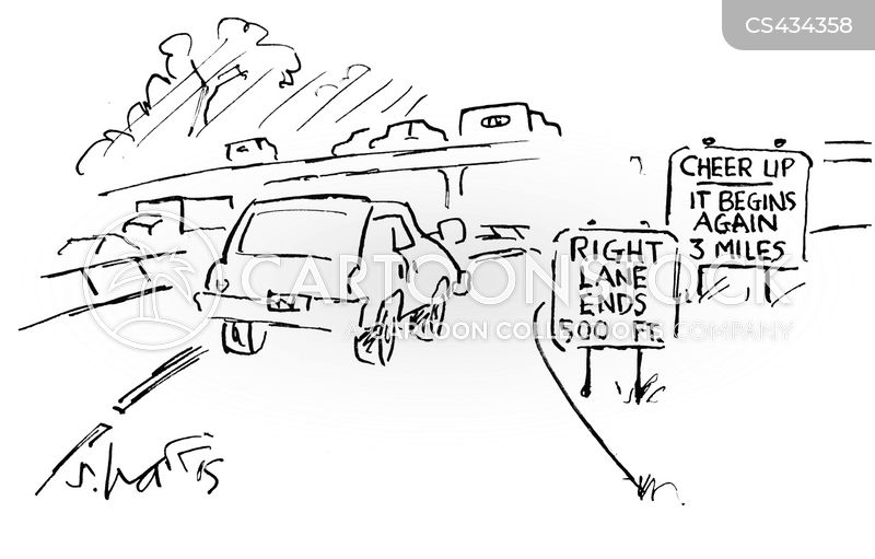 transport sign cartoon