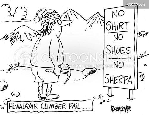 sherpa cartoon