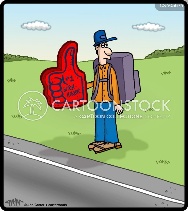 hitchhikes cartoon