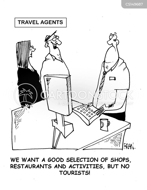 travel agents cartoon