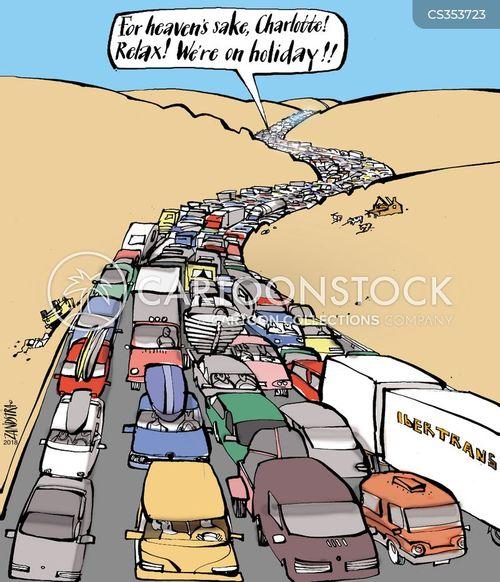driving holiday cartoon 3 of 4 - Holiday Cartoon Images