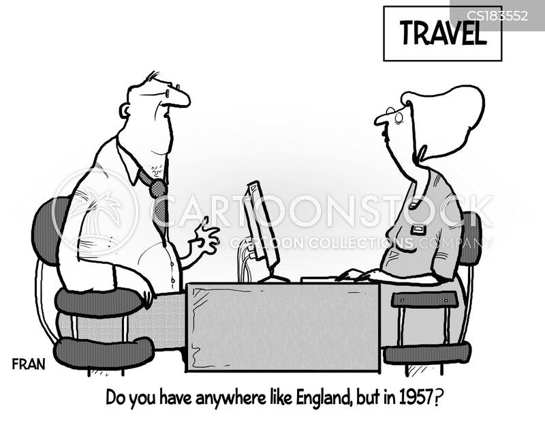 holiday destination cartoon