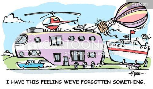 motorhome cartoon