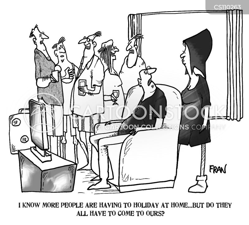 holiday makers cartoon