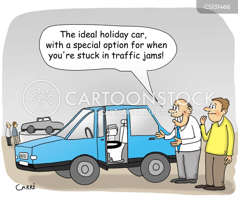 heavy traffic cartoon