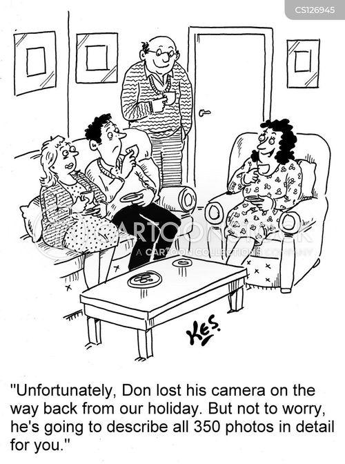 holiday photographs cartoon