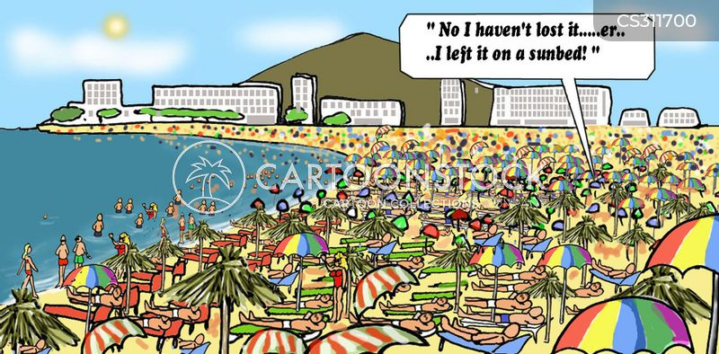 seaside resort cartoon