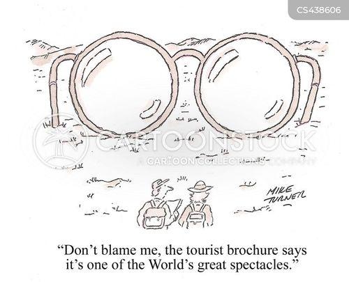 sight-seeing cartoon