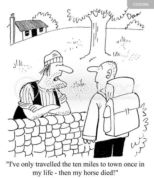 rural community cartoon