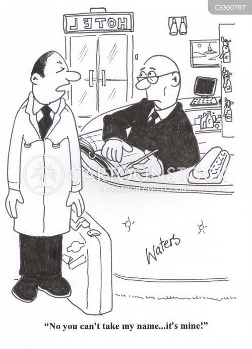 signing in cartoon