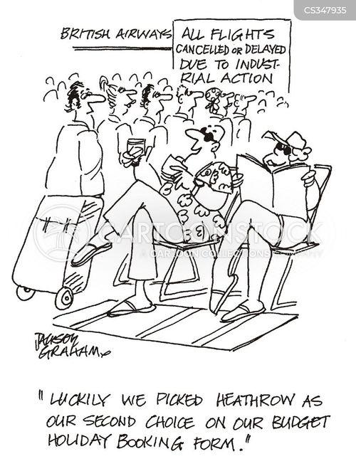 budget holiday cartoon