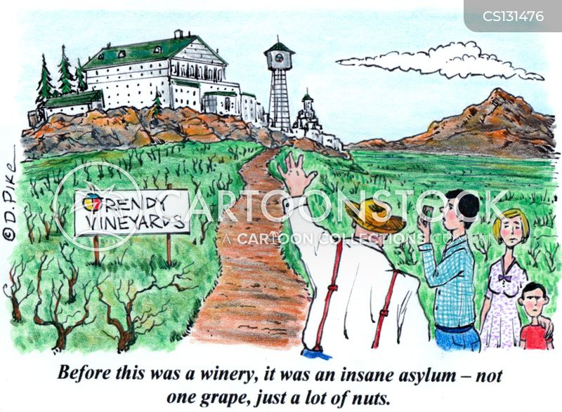 insane asylums cartoon