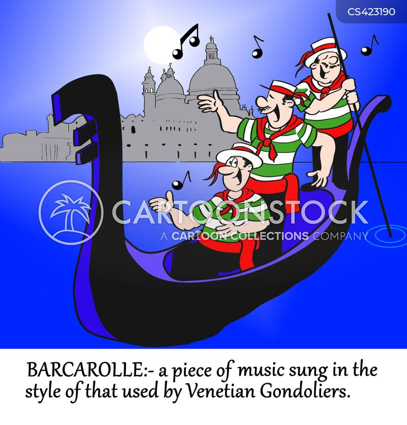 gondoliers cartoon