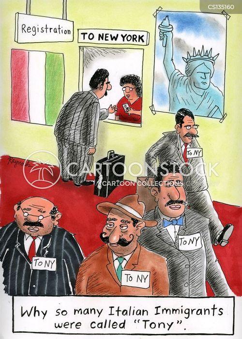 italian immigrants cartoon