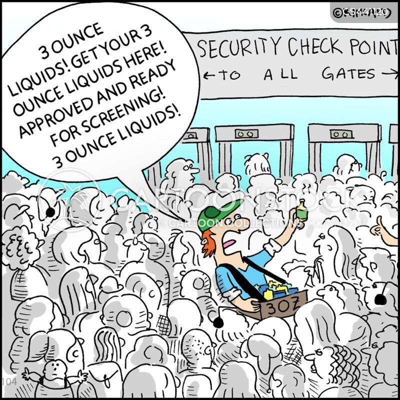 security screenings cartoon