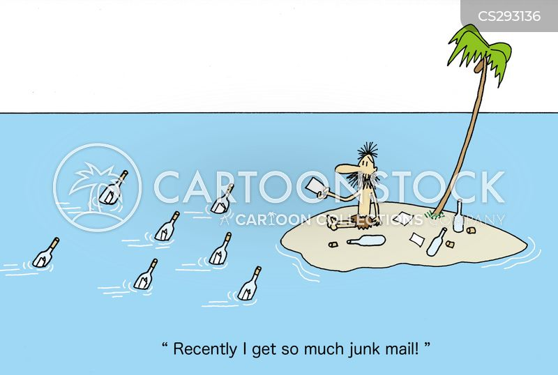 junk letters cartoon