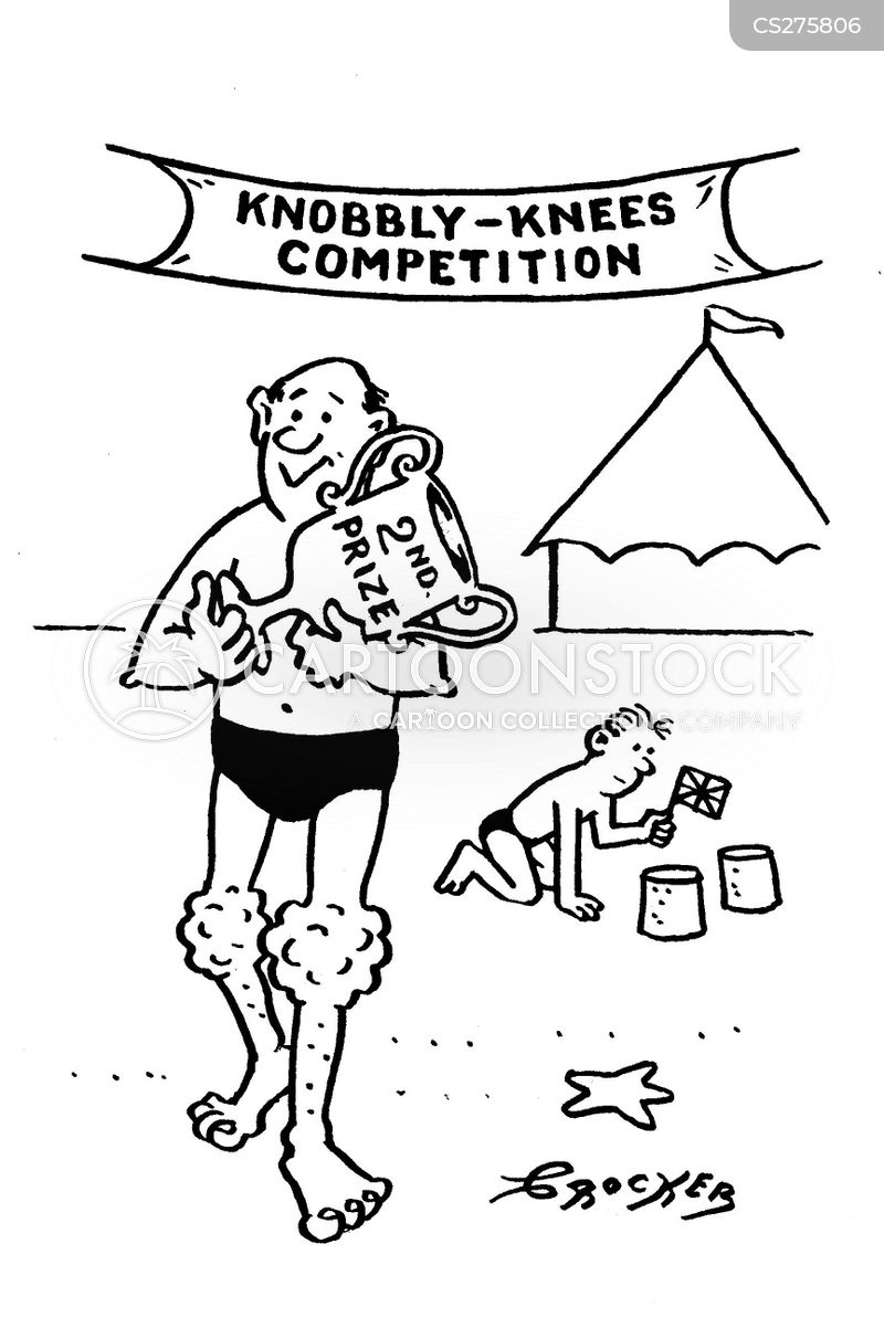 Knobbly Knees Competition Knobbly Knees Cartoon 1 of 2