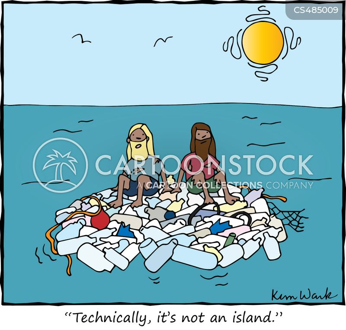 plastic bottles cartoon