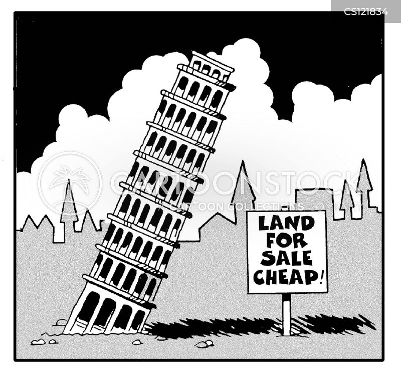 the leaning tower cartoon